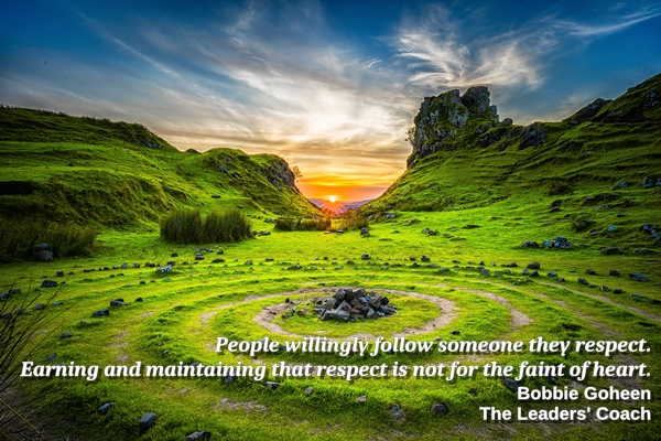 earning and maintaining respect is not for the faint of heart quote by bobbie goheen